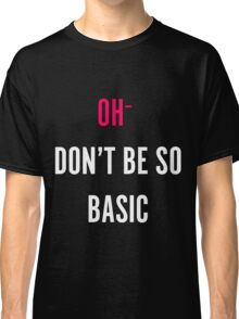 The Basic Design (Black) Classic T-Shirt