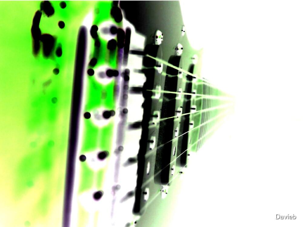 Green Guitar by Davieb