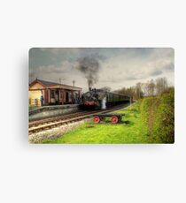 About to leave Bodiam Station  Canvas Print