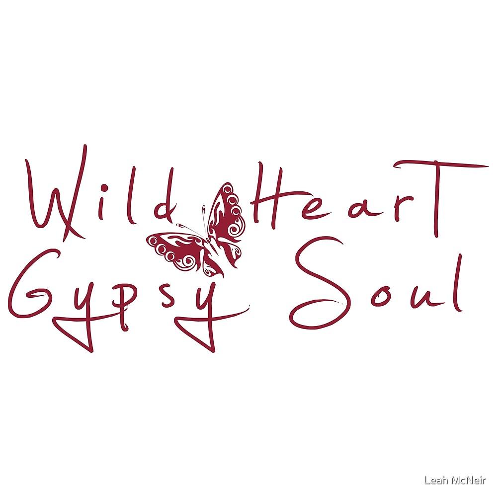 Wild Heart, Gypsy Soul - Boho Tribal Butterfly by Leah McNeir