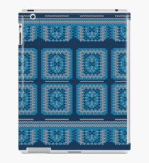Blue Knitted Pattern iPad Case/Skin