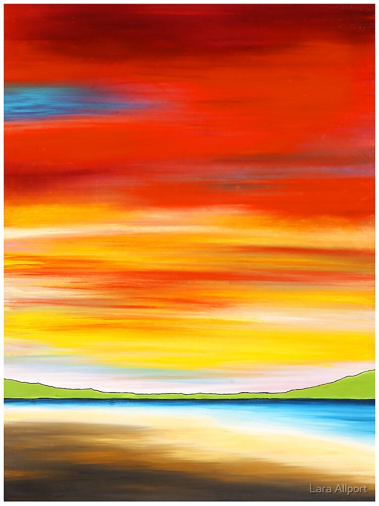 red sky at Palm beach, northern beaches, Sydney. Australia by Lara Allport