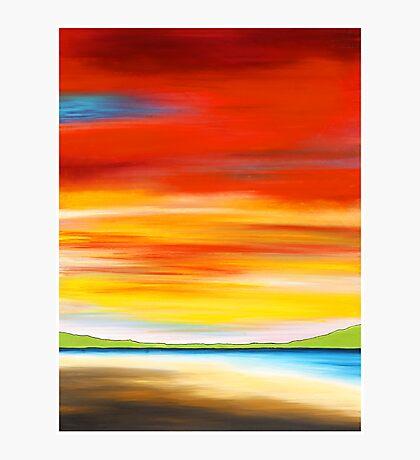 red sky at Palm beach, northern beaches, Sydney. Australia Photographic Print