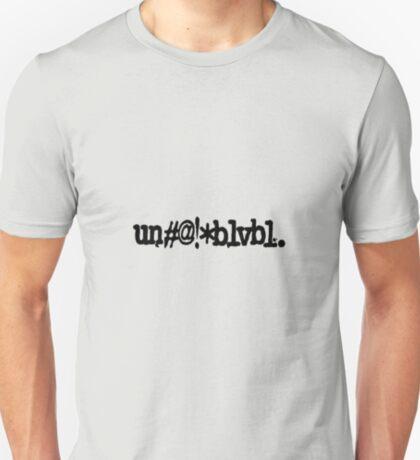 un#@!*blvbl. T-Shirt
