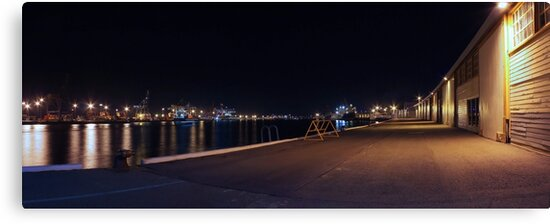 Fremantle Docks At Night Panorama  by EOS20