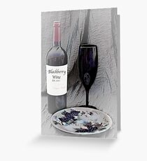 Est. 2017 Blackberry Wine Greeting Card