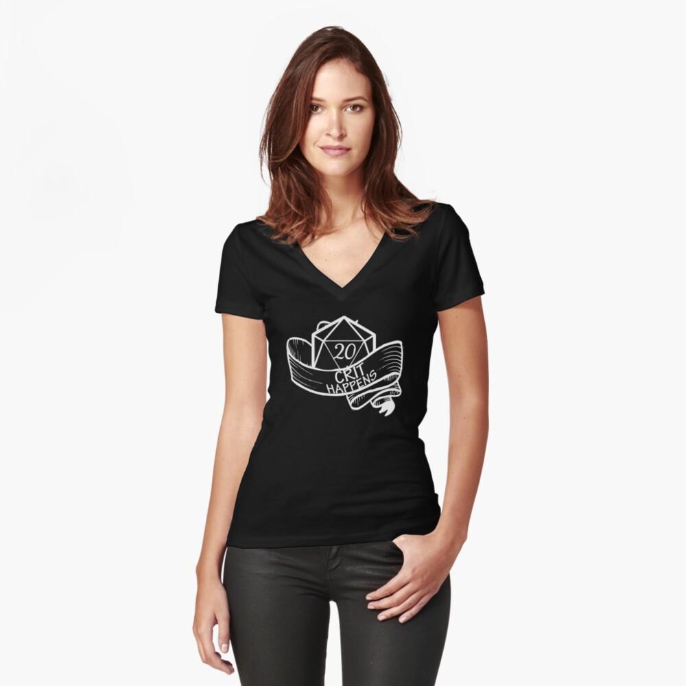 Crit Happens Camiseta entallada de cuello en V
