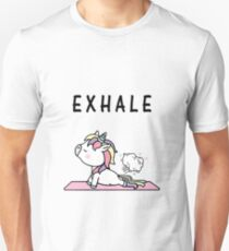 Exhale Unicorn Yoga Fart Unisex T-Shirt