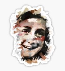 Paint-Stroked Portrait of Anne Frank Sticker