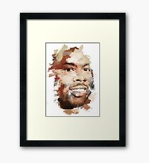 Paint-Stroked Portrait of Actor and Comedian, Chris Rock Framed Print
