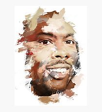 Paint-Stroked Portrait of Actor and Comedian, Chris Rock Photographic Print