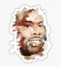 Paint-Stroked Portrait of Actor and Comedian, Chris Rock Sticker