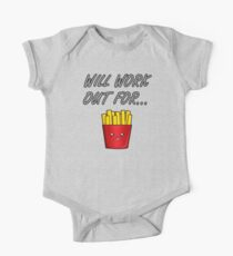 Will Work Out For ... Fries One Piece - Short Sleeve