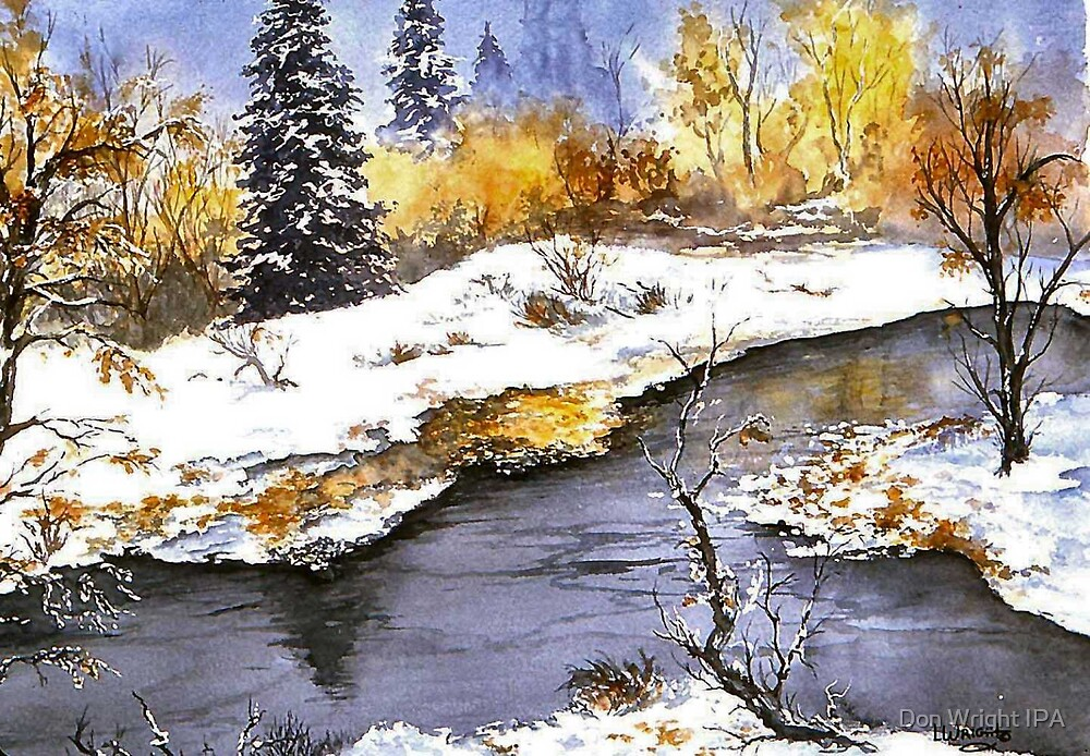 Snowy Pond by Don Wright IPA