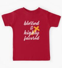 Blessed and Highly Favored Kids Tee