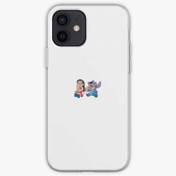 lilo and stitch eating ice cream iPhone Soft Case