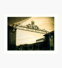 Golden Shankly Gates Art Print