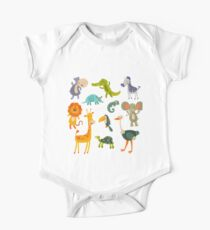 Funny Collection Hand Drawing Animals One Piece - Short Sleeve