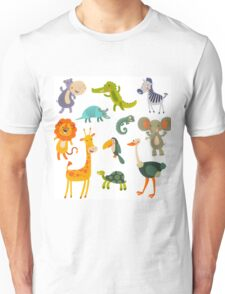 Funny Collection Hand Drawing Animals Unisex T-Shirt