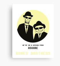 Bones Brothers - Undertale/Blues Brothers Mashup - w/o Blue Background Canvas Print