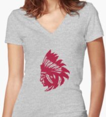 Native Women's Fitted V-Neck T-Shirt