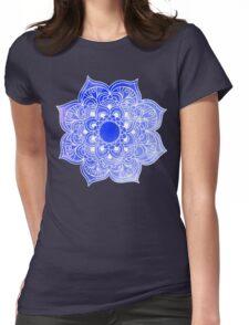 Mandala Blue Womens Fitted T-Shirt