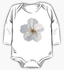 White  Flower Petals One Piece - Long Sleeve