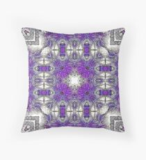 Palm Leaves Abstract Art Pattern  Throw Pillow