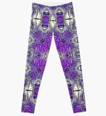 Palm Leaves Abstract Art Pattern  Leggings