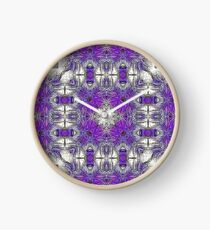 Palm Leaves Abstract Art Pattern  Clock
