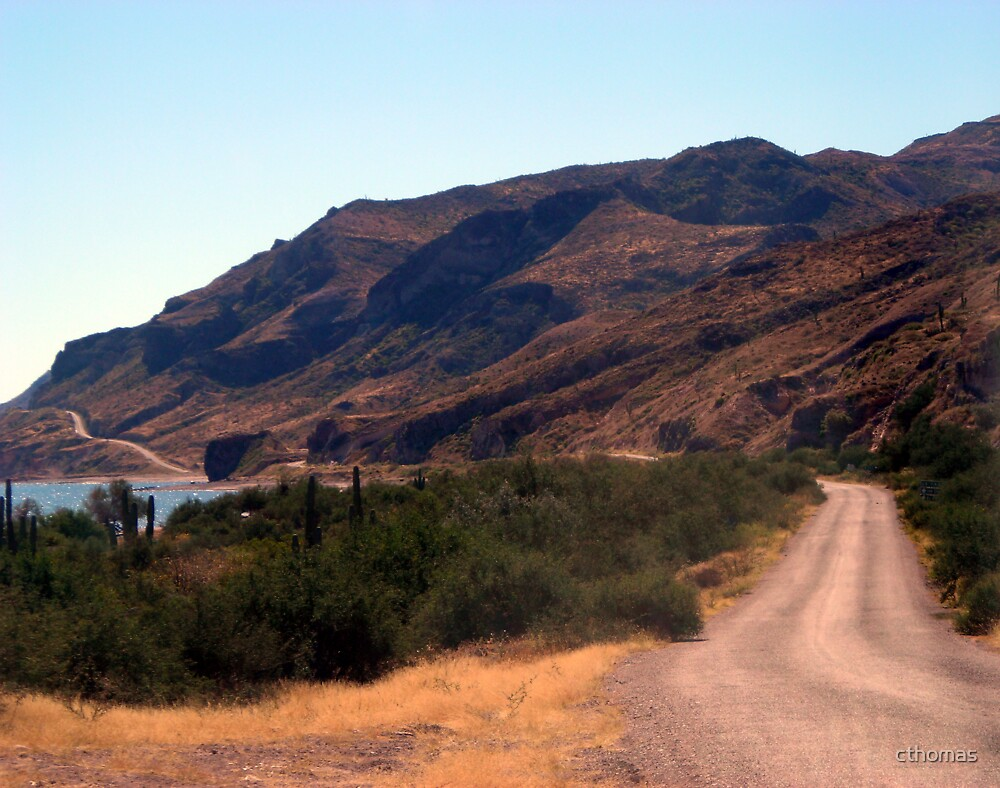 """Road Along The Water"" on the Sea of Cortez in Mexico by cthomas"