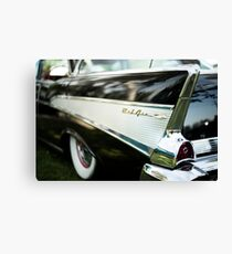 Fins - Black Belair Canvas Print