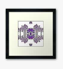 Passionately Purple Palm Leaves  Framed Print