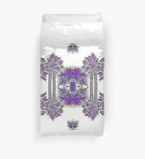 Passionately Purple Palm Leaves  Duvet Cover