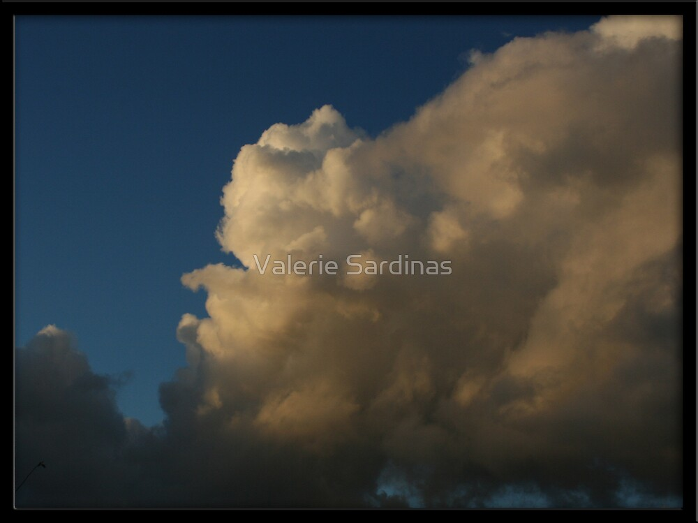 Cotton ball clouds by Valerie Sardinas
