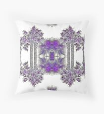 Passionately Purple Palm Leaves  Throw Pillow