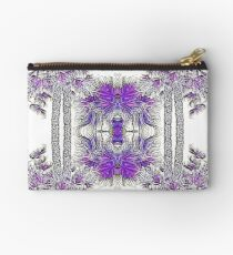 Passionately Purple Palm Leaves  Studio Pouch