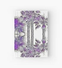 Passionately Purple Palm Leaves  Hardcover Journal