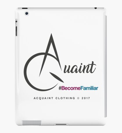Acquaint Clothing Logo Dark iPad Case/Skin
