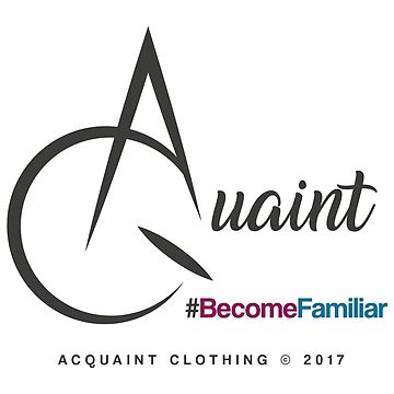 Acquaint Clothing Logo Dark by StevePaulMyers