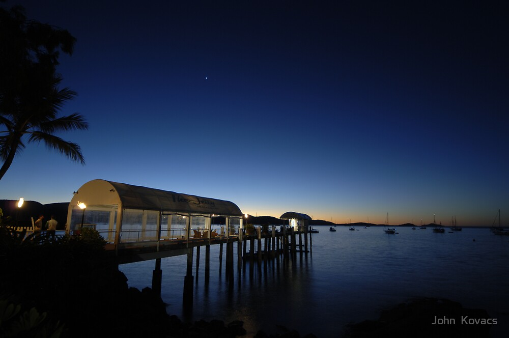 Airlie Beach sunset Australia by John  Kovacs