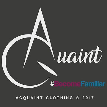 Acquaint Clothing Logo Light by StevePaulMyers