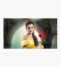 Emma Watson + Beauty and the Beast Photographic Print