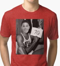 Devin Booker - 70pts vs Celtics Tri-blend T-Shirt