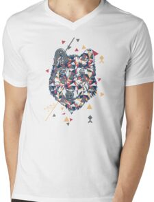 Wolf - Geometric Forms and Colors Mens V-Neck T-Shirt