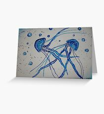 Jellyfishes in love Greeting Card