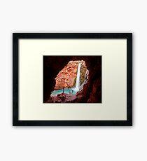 Moony Falls Tunnel Framed Print