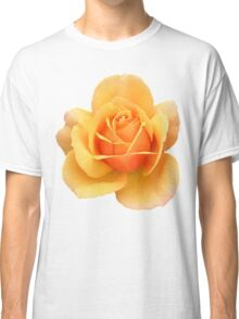 Yellow Rose Flower in Black Background Classic T-Shirt