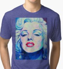 Pop Art Portrait Marilyn Monroe Gemälde Malerei Tri-blend T-Shirt