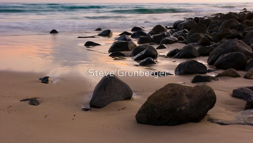 Rocks at Burleigh Heads Beach by Steve Grunberger